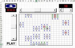 Juegos hechos en Excel - Buscaminas