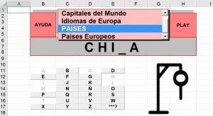 Juegos Hechos en Excel - Ahorcado