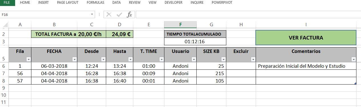 Nuevo Trabajo - Nuevo Trabajo hecho en Excel