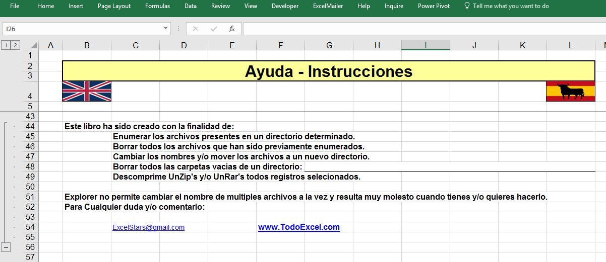 Programa para Renombrar Libros - Renombrar Libros hecho en Excel