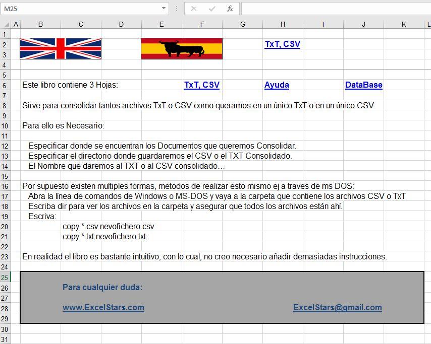 Consolidator - Consolidator Programa hecho en Excel