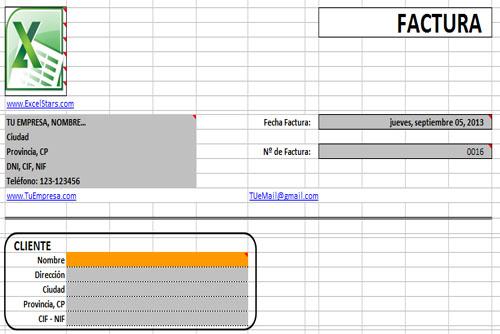 Plantillas Facturas Excel - Plantillas para Facturas y Presupuestos hechas en Excel
