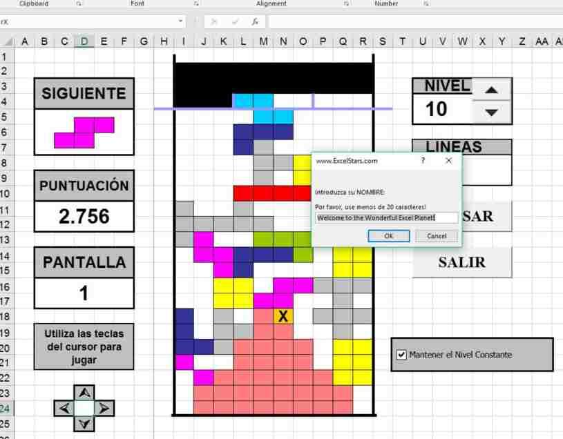 Tetris Para Excel Tetris Hecho En Excel Juego De Tetris