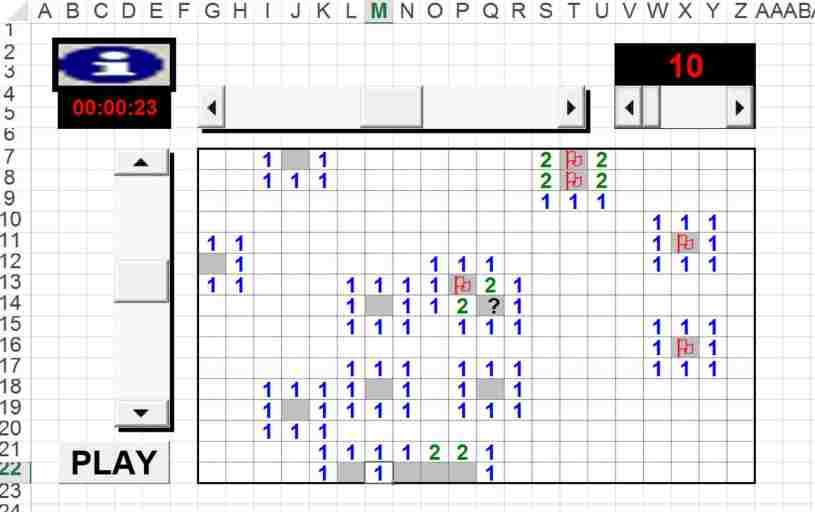 Buscaminas en Excel - Buscaminas en Excel - Buscaminas hecho en Excel